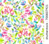 happy and bright floral... | Shutterstock . vector #700837921