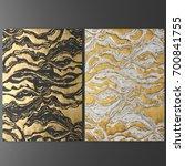 3d wall art  picture of gold... | Shutterstock . vector #700841755