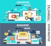 flat concept web banner of... | Shutterstock .eps vector #700844761