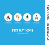 flat icon handicapped set of... | Shutterstock .eps vector #700847251