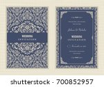 wedding invitation cards ... | Shutterstock .eps vector #700852957
