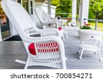 Front Porch Of House With Whit...
