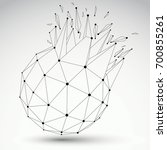dimensional wireframe object ... | Shutterstock . vector #700855261