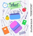 back to school background on... | Shutterstock .eps vector #700859587