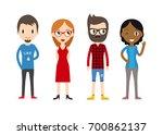 diverse raster people set. men... | Shutterstock . vector #700862137