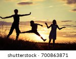 happy children playing in the... | Shutterstock . vector #700863871