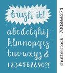 calligraphic brush pen font... | Shutterstock . vector #700866271