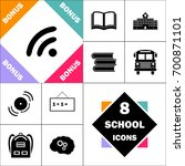 wifi zone icon and set perfect... | Shutterstock .eps vector #700871101