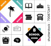 palm icon. contains such icons... | Shutterstock .eps vector #700872697
