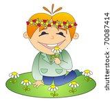 vector illustration. happy boy. | Shutterstock .eps vector #70087414