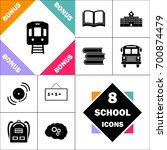 Train Icon And Set Perfect Bac...
