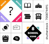 question icon and set perfect... | Shutterstock .eps vector #700874491