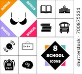 bra icon and set perfect back... | Shutterstock .eps vector #700875331