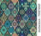 colorful vintage seamless... | Shutterstock .eps vector #700876069