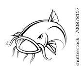 graphic catfish on white...   Shutterstock .eps vector #700878157