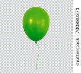 green helium balloon. birthday... | Shutterstock .eps vector #700880371