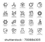 molecular chemistry  physics... | Shutterstock .eps vector #700886305