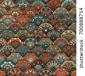colorful vintage seamless... | Shutterstock .eps vector #700888714
