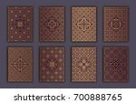 card set with mosaic lace... | Shutterstock .eps vector #700888765