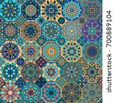 colorful vintage seamless... | Shutterstock .eps vector #700889104