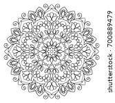 floral mandala round pattern.... | Shutterstock . vector #700889479