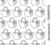 woman bags seamless pattern.... | Shutterstock . vector #700889551