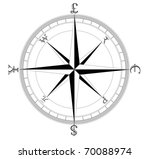 simple clean currency compass | Shutterstock .eps vector #70088974