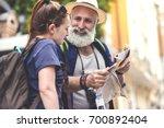 friendly mature man needs help... | Shutterstock . vector #700892404