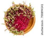 red beetroot sprouts in wooden... | Shutterstock . vector #700894141