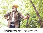 cheerful old man enjoying...   Shutterstock . vector #700894897