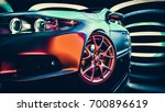 modern cars are in the showroom. | Shutterstock . vector #700896619