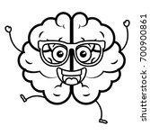 brain storm kawaii character | Shutterstock .eps vector #700900861