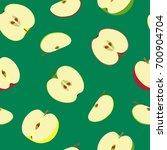 vector pattern of halves of... | Shutterstock .eps vector #700904704