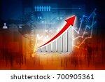 3d rendering stock market... | Shutterstock . vector #700905361