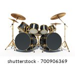 steampunk style drum kit | Shutterstock . vector #700906369
