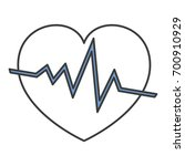 heart cardiology isolated icon | Shutterstock .eps vector #700910929