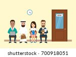 business people sitting in... | Shutterstock .eps vector #700918051