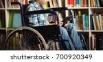 disabled schoolboy using...   Shutterstock . vector #700920349