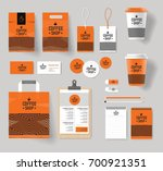 corporate branding identity... | Shutterstock .eps vector #700921351