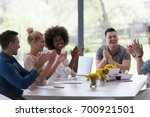 multiethnic group of young... | Shutterstock . vector #700921501