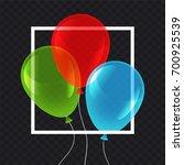 three party balloons vector... | Shutterstock .eps vector #700925539