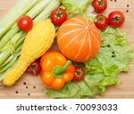 large bright assortment of... | Shutterstock . vector #70093033