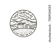 vintage vector round label. new ... | Shutterstock .eps vector #700934035
