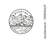vintage vector round label.... | Shutterstock .eps vector #700934137