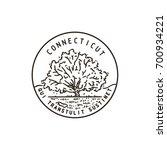 vintage vector round label.... | Shutterstock .eps vector #700934221