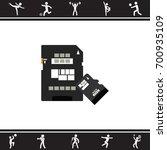 color vector image. sd card... | Shutterstock .eps vector #700935109