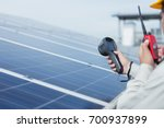 engineer working on checking... | Shutterstock . vector #700937899
