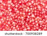 Closeup Pomegranate Seed...