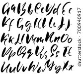 hand drawn dry brush font.... | Shutterstock .eps vector #700940917
