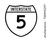 interstate highway 5 road sign. ... | Shutterstock .eps vector #700945297